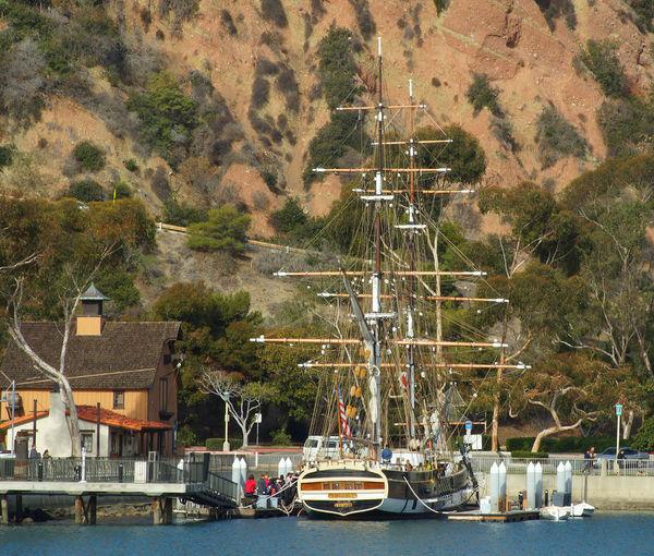 Pilgrim docked at Dana Point, CA 2 Years Before The Mast Boat Dana Point Harbor Nautical Vessel Square Rigger Water