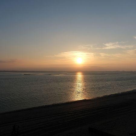Sunset Sunrise France Sea Water Sea Sunset Beach Sand Wave Low Tide Sunlight Silhouette Sun Romantic Sky
