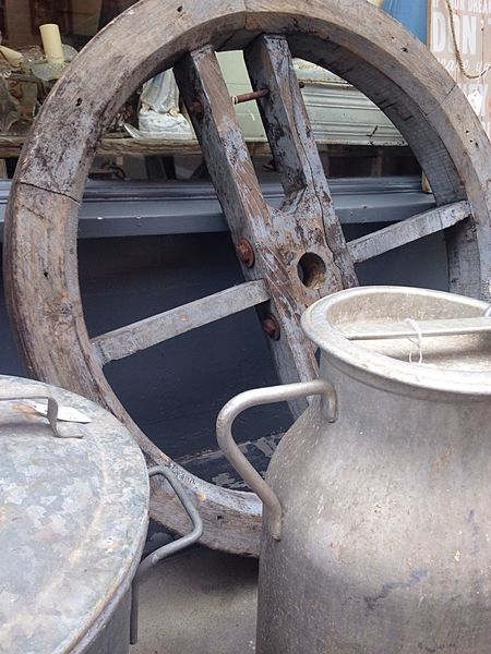 Old Things Vintage Milk Churn Wheel Worn Wheel Abandoned Rusty Obsolete Retro Styled Old Old Things Vintage Milk Churn Wheel Worn Wheel Abandoned Rusty Obsolete Retro Styled Old Equipment Metal Wood - Material Obsolete Outdoors Wheel No People
