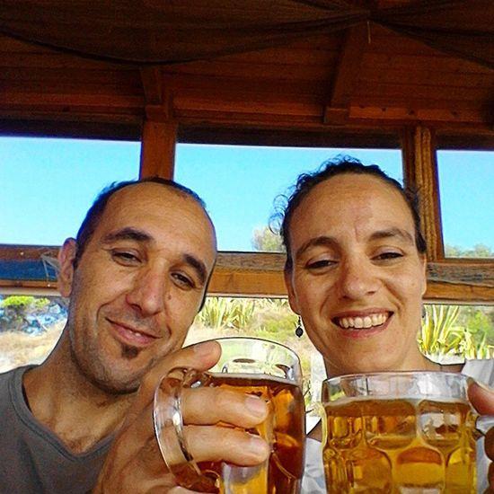 A break from the walk... Artisignis Geocaching Fun Beer beach
