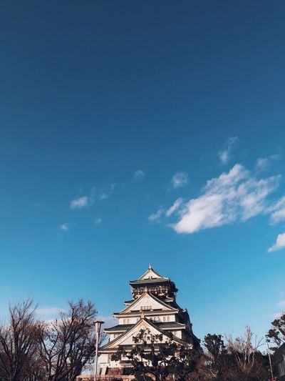 Osaka castle Holiday Bluesky Castle Sky Architecture Low Angle View Built Structure Blue Cloud - Sky Nature Building Exterior No People Day Tree Outdoors Building Religion Travel Destinations Travel Place Of Worship