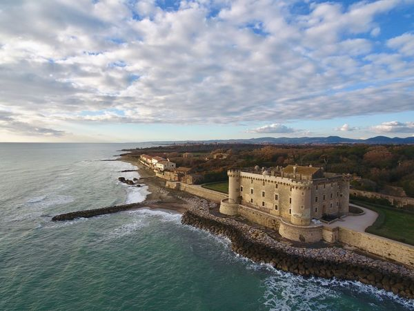 Marina di San Nicola Castello Italy🇮🇹 Italy Aerial Shot Birdeyeview Aerial View Dronephotography Drone  DJI X Eyeem Dji Sea And Sky Sea Castle Water Sky Architecture Cloud - Sky Nature Built Structure Beauty In Nature No People Travel Destinations