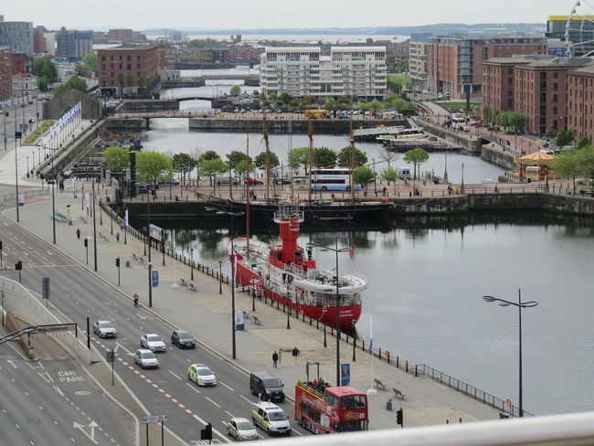 Albert Docks City Of Liverpool Dockland Liverpool Traffic Docks Dockside Main Road View Above The City