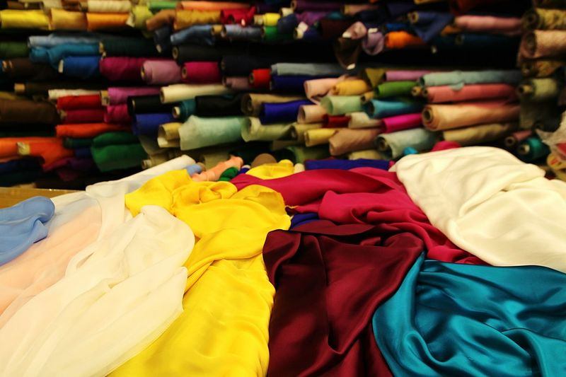 Fabrics Shop Silk Shop Silk Clothing Multi Colored Retail  Variation Business Finance And Industry Store Fashion