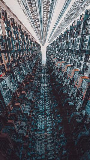 Full frame shot of buildings in city