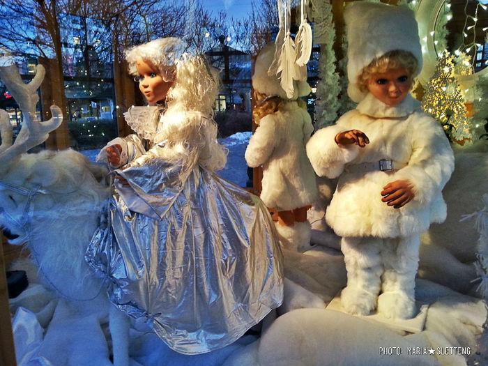 Christmas Decorations Window Winter White Reindeer Dolls Swedish Christmas December 2016 Winter Wonderland Christmas Around The World Wintertime Christmas Wonderland Christmas Lights White