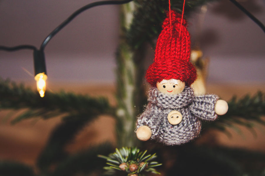 Christmas Lights Holiday Event Old School Tradition Celebration Christmas Christmas Decoration Christmas Ornament Christmas Tree Close-up Crocheted Day Focus On Foreground Hanging Illuminated Indoors  No People Self Made