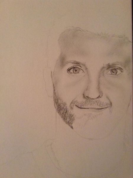 progress update on my Bradley Cooper Sketch