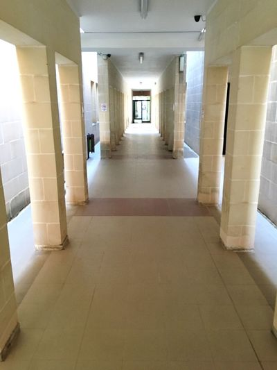 Corridor Architecture Built Structure Indoors  Architectural Column The Way Forward Tiled Floor Maltese Architecture Malta Architecture The Way Foward Floor University European University Diminishing Perspective