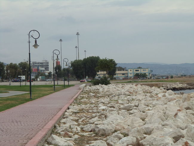 Clouds And Sky Greece Lamp Pathway Patras,Greece Seaside Stones & Water Summer2015