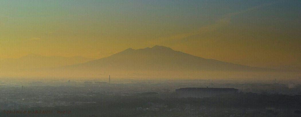 Landscape Panorama Il Vesuvio E La Reggia