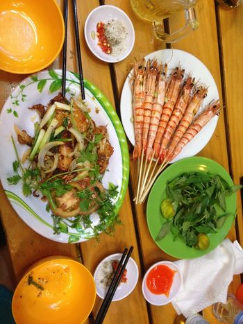 Tiger shrimps Shrimp Bowl Close-up Directly Above Eating Utensil Food Food And Drink Freshness Glass Healthy Healthy Eating Indoors  Kitchen Utensil Meal No People Ready-to-eat Seafood Serving Size Spoon Still Life Table Vegetable Vegetables Wellbeing