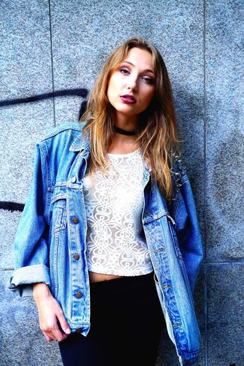 Jeans Casual Clothing Portrait Teenager Long Hair One Person Looking At Camera Beautiful People Teenagers Only Fashion Youth Culture Standing Beauty Young Adult Females Beautiful Woman Blue People Adult Outdoors