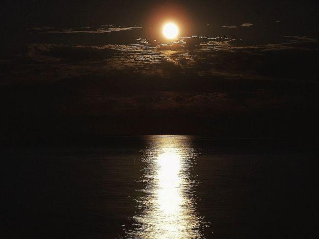 Moon Moon Night Stars Sea Nature Landscape