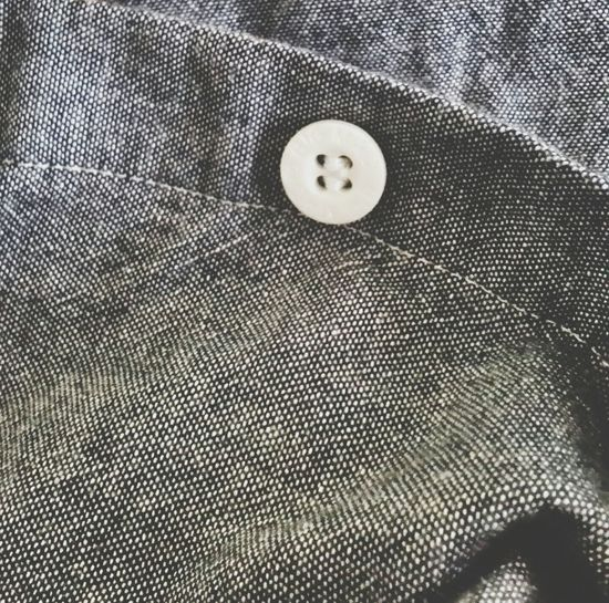 Fabric Detail Cotton Chambery Botton My Shirt ♥  Details Textures And Shapes