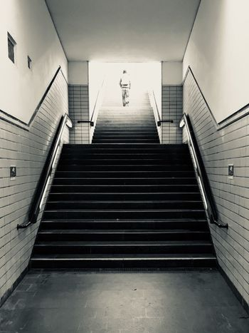 Stairways to ......... Illusion Walking Around Where Are You Going? Streetart Streetphotography Walking Around Train Station Heaven Into The Light Steps And Staircases Steps Staircase Indoors  Railing Built Structure Illuminated Day
