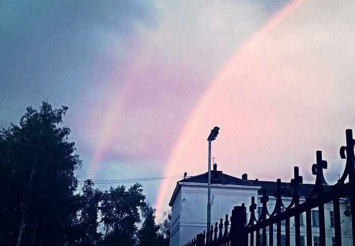 Двойная радуга))) Природа