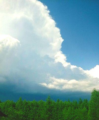 Blue Sky Clouds Cloudmountain Nature Massive