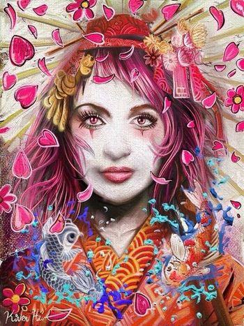 She is so high... iPad app : ART RAGE Art Drawing Digital Art My Ipad Art