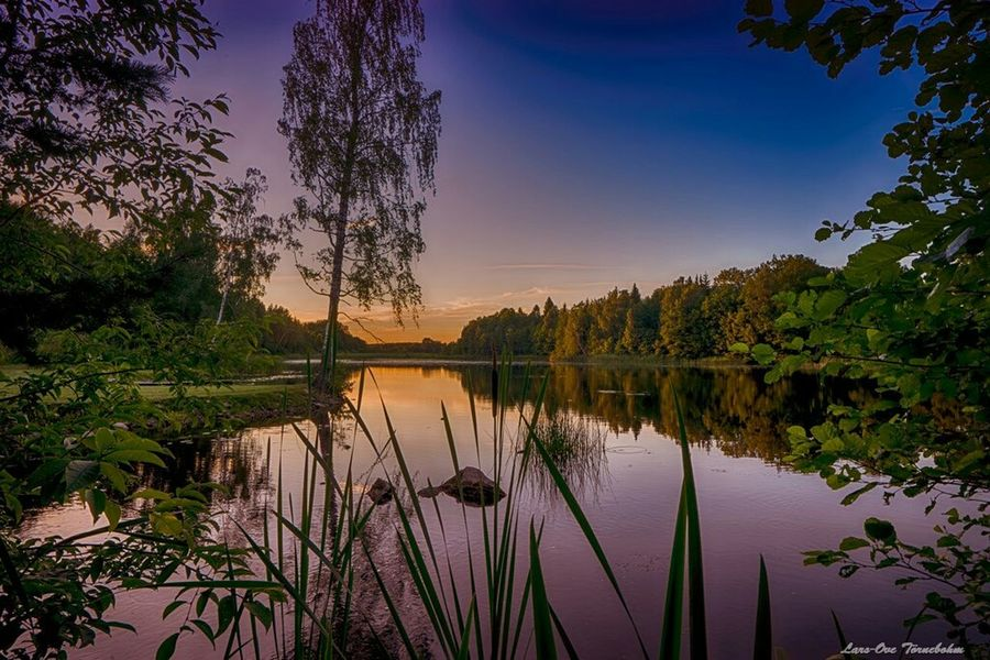 A colorful evening Landscape Landscape_photography Nature Nature_collection Tornephoto Katrineholm