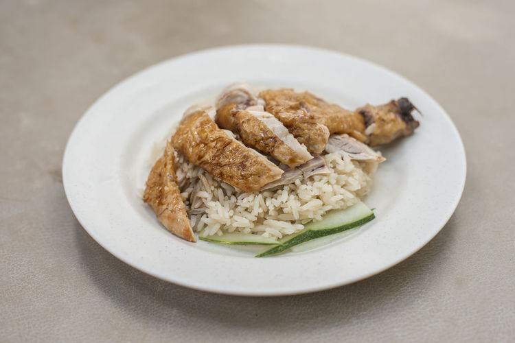 Roasted chicken drumstick with rice Food Food And Drink Ready-to-eat Freshness Still Life Indoors  Healthy Eating Close-up Table Wellbeing Plate No People Chicken Indulgence Focus On Foreground Chicken Meat Serving Size Temptation Snack Singapore Food Chicken Rice Roasted Chicken Rice