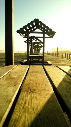 Beach Picnic Tables Lopsided Sand Wooden Texture 3D Effects