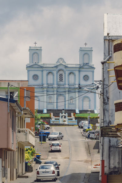 Eglise de Sainte Marie, Martinique City Island Life Martinique Tropical Paradise Architecture Building Building Exterior Built Structure City Island City Mode Of Transportation Outdoors Road Street Tropical Climate
