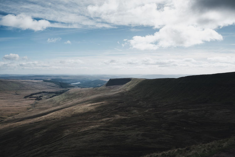 Brecon Beacons, Wales Brecon Beacons Wales Arid Climate Beauty In Nature Climate Cloud - Sky Day Environment Geology Idyllic Land Landscape Mountain Mountain Range Nature No People Non-urban Scene Outdoors Physical Geography Remote Rolling Landscape Scenics - Nature Sky Tranquil Scene Tranquility