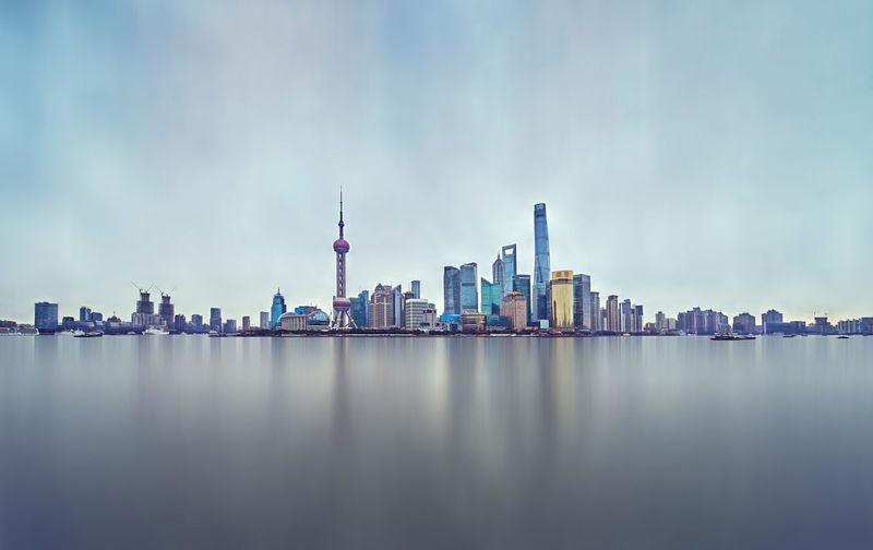 Panoramic View Of Skyscrapers Against Sky