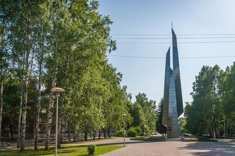 Boulevard Stella Obelisk Summer Novokuznetsk Kuzbass Siberia Russia