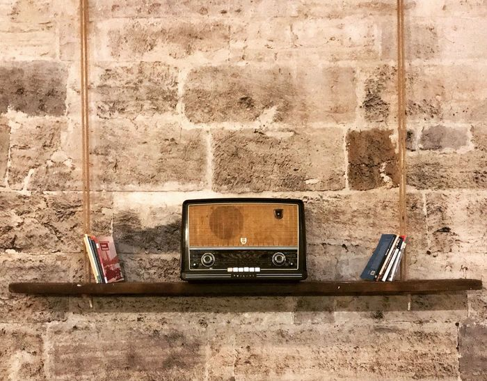Wall - Building Feature Retro Styled Old-fashioned Technology Music