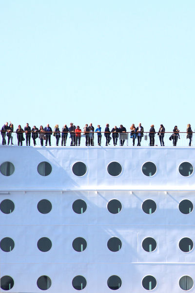 Adventure Boat Clear Sky Connection Mint Travel Cruise Ship Enjoyment Ferry Large Group Of People Lifestyles Light And Shadow LINE Low Angle View Color Line Men Minimalism Nature Outdoors People Watching Ship Sky Sunny Windows Breathing Space