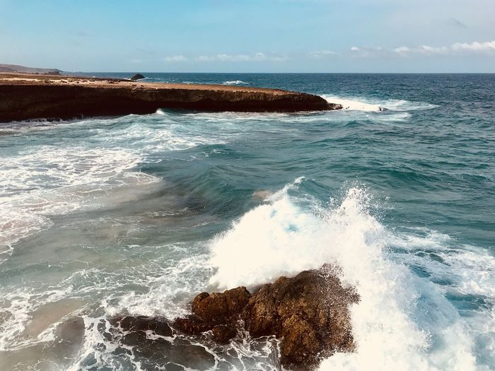 Antilles Island Arikok National Park Ocean Caribbean Sea Water Beauty In Nature Nature Wave Scenics No People Horizon Over Water Motion Day Outdoors Sky Beach Power In Nature