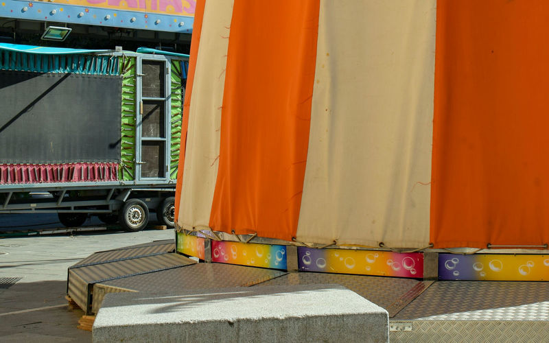 Full Frame Details And Colors Nopeople Outdoor Photography Colorful Circus Circus In Town Circus Life Colors Cargo Container Closed Vehicle Trailer Semi-truck