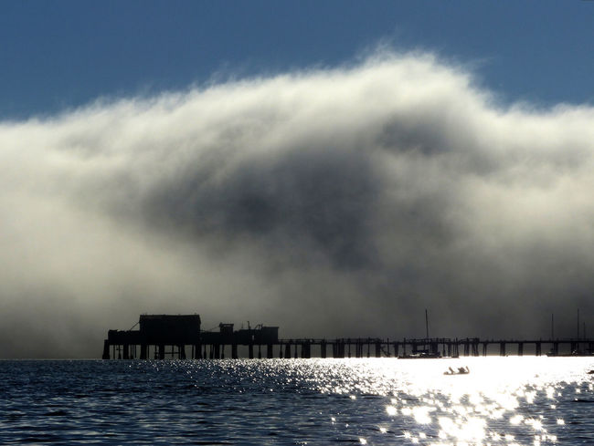 Beauty In Nature Built Structure Fog Marine Layers! Nature No People Outdoors Pier Sea Sky Water Waterfront Weather