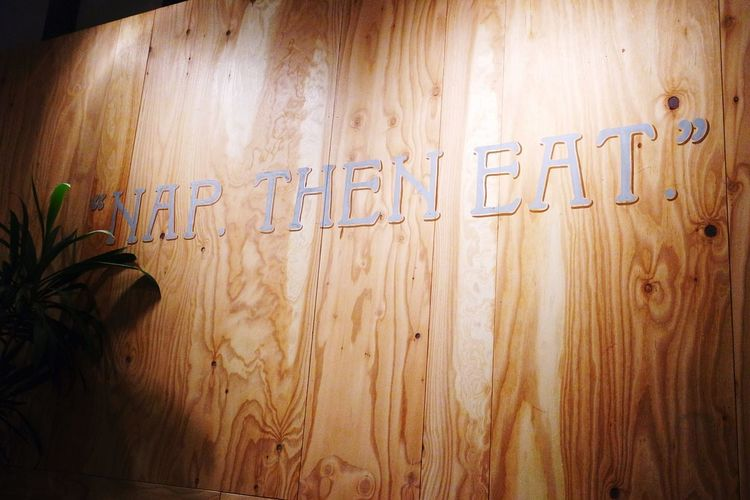 """""""Nap. Then Eat.""""...questionable Wall Sign Hungry Nap First Nap Eat"""