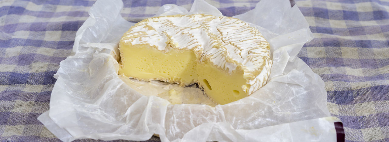 Camemebert cheese Camembert Camembert Cheese France Local Cheese Close-up Dairy Product Food French Food Freshness Gastronomy High Angle View Local Food No People Ready-to-eat Still Life Tablecloth Temptation