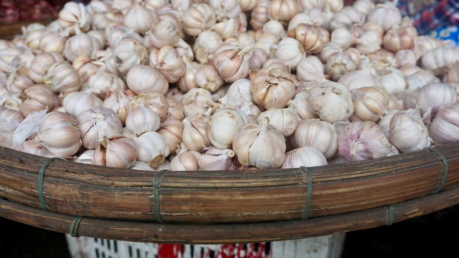Close-up Freshness Food And Drink No People Food Healthy Eating Nature Day Garlic Bulb Outdoors market asia vietnam