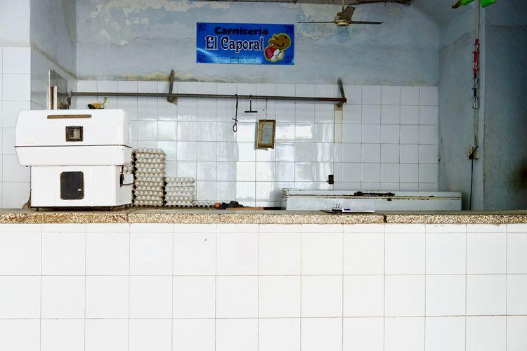 Eggs shop. Cuba Habana Havana Retro Supermarket Travel Varadero Abandoned Architecture Cuban Day Eggs Flooring Indoors  Kitchen Shop Store Tile Tiled Floor Tiles White Color