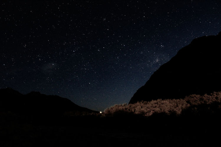 Stars above the mountains