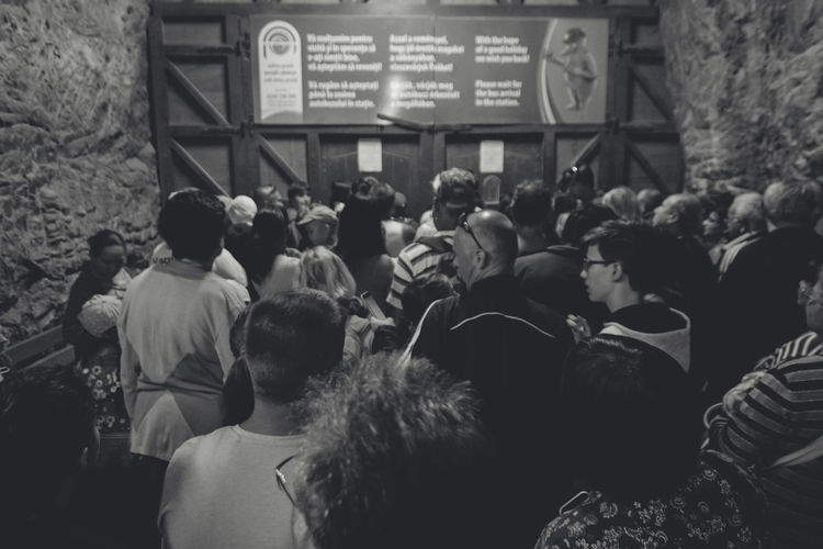 Crowd Crowded Door Gate Indoors  Large Group Of People Parajd Person Praid Transylvania Waiting