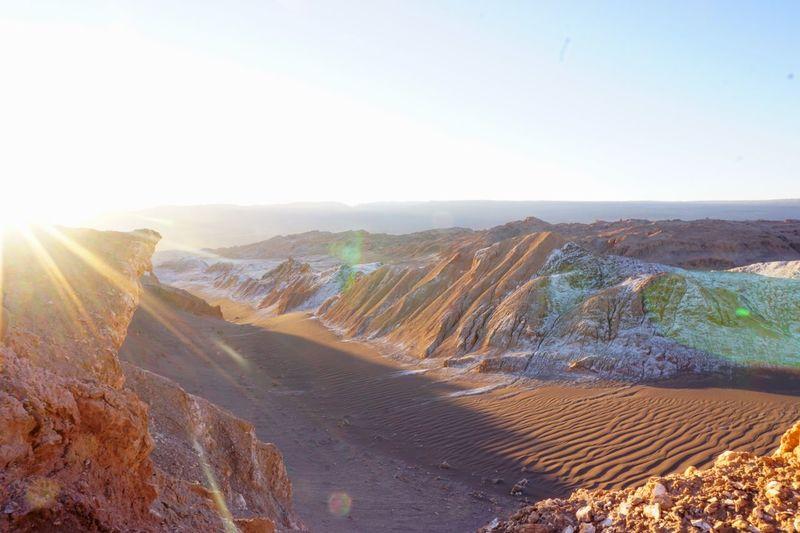 Traveling Chile Atacama Desert Desert Valle De La Luna Landscape Sunset Light The KIOMI Collection