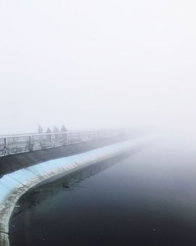 Cold Temperature Winter Weather Copy Space Snow Water No People Nature Fog Outdoors Day Beauty In Nature Sky Architecture