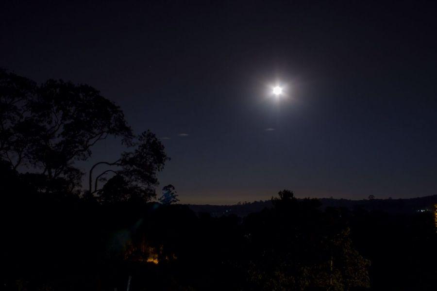 Nigh Fotograph Moon Nature Horizons