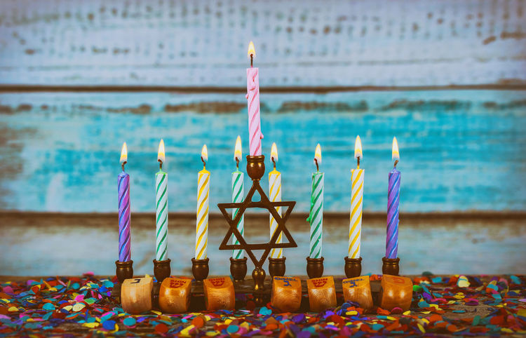 A fully lit menorah Glowing Hanukkah Burning Candles Torah Ancient Rituals Burning Candle Chanukah Candles Faith Hanukkah Menorah Hanukkah Candles HanukkahDecor Menorahcandles Candlelight Chanuka Chanukah Hanukkah Hanukkah Dreidel Hanukkiah Judaism Kislev Menorah Orthodox Religion Sabbath Sabbathday Synagogue