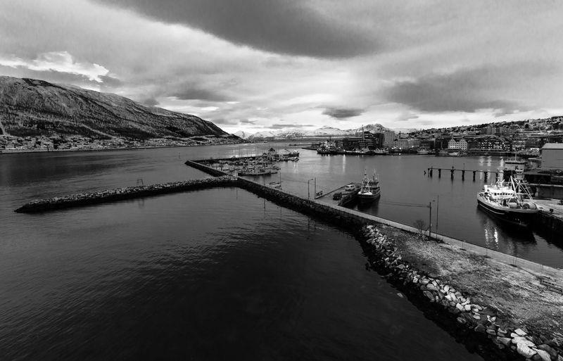 City Cityscape Lines Tromso Tromso Harbor Tromsø Built Structure Harbor Nautical Vessel Water