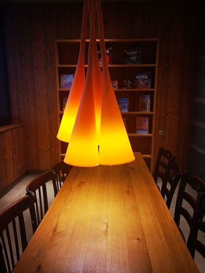 Lamp Table Ambilight Yellow Orange Color