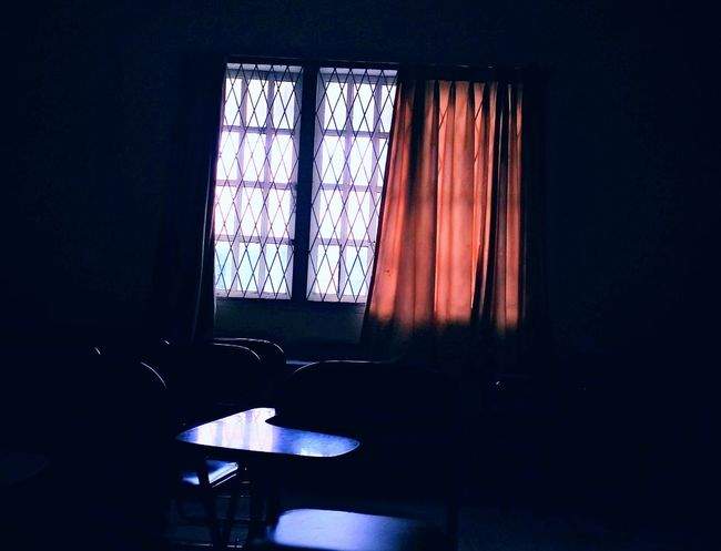 Medan Indoors  No People Room With A View Window Lonely Objects Siluetphoto Fear Of The Dark