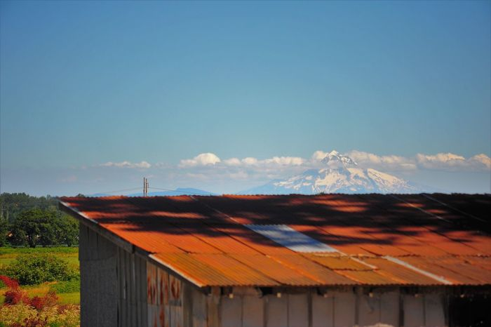 Mt. Hood, Or Architecture Building Exterior Built Structure Corrugated Iron Day Mountain Nature No People Outdoors Roof Rusty Roof Sky