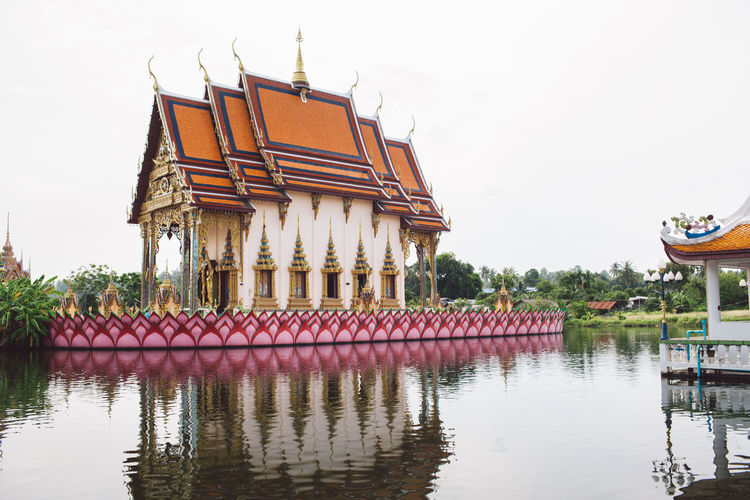Architecture Built Structure Building Exterior Water Reflection Sky Building Lake Roof Place Of Worship Nature Waterfront Religion Day Belief Travel Destinations Spirituality No People Outdoors